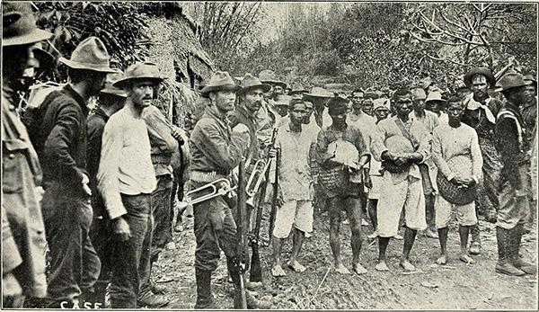 U.S. troops with Taguig Filipino prisoners March 19, 1899