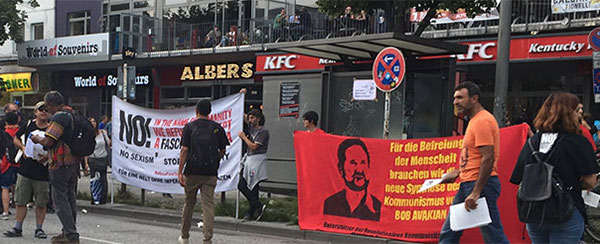 supporters of Bob Avakian's new communism rallied protesters