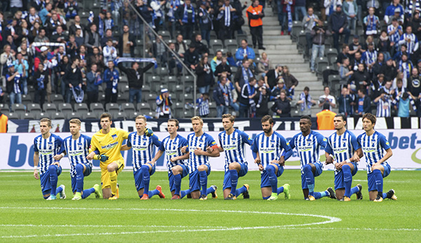 German soccer club takes a knee
