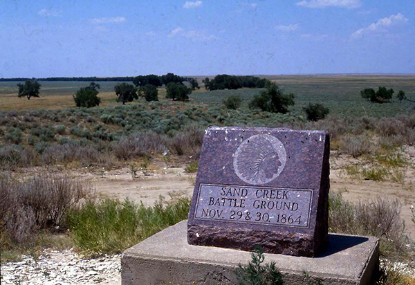 The site of the Sand Creek Massacre.
