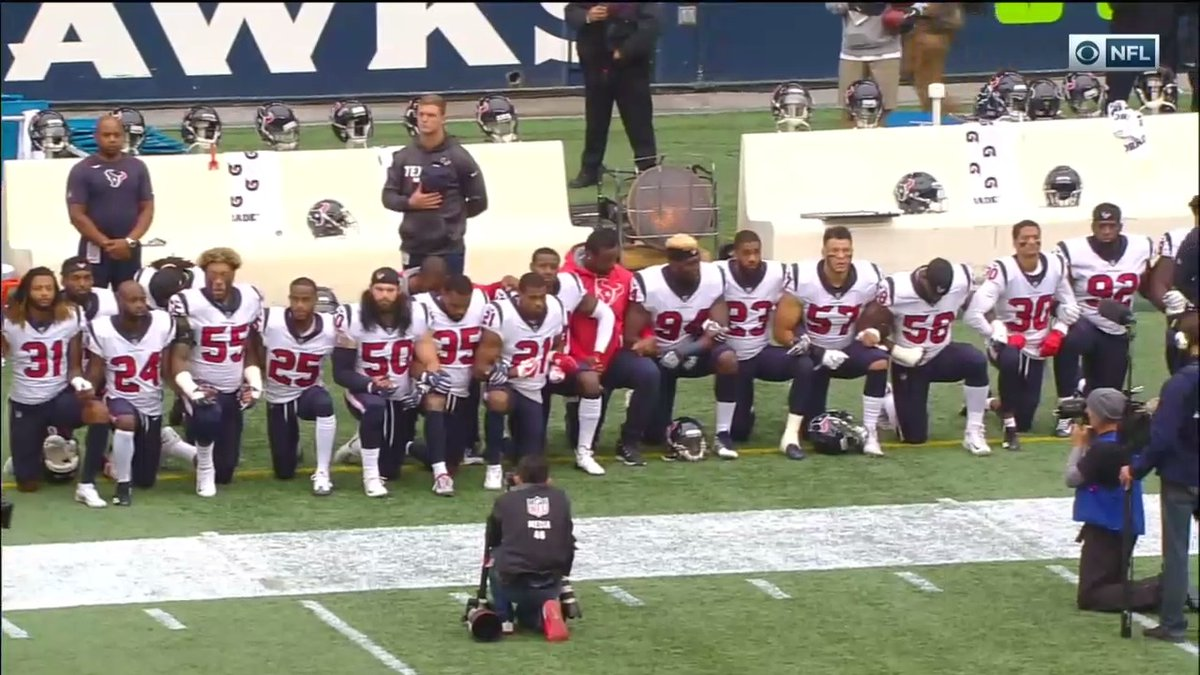 Houston Texans Respond to Owner, Kneel During Anthem