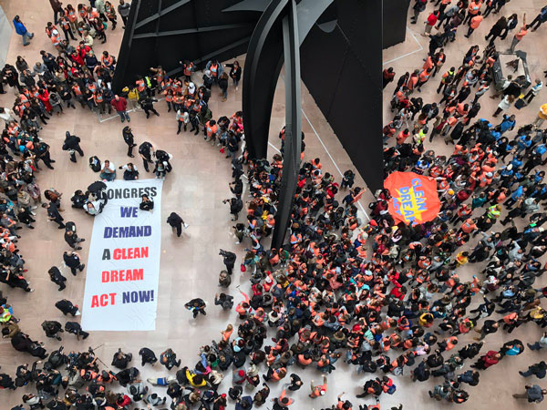 Students in Washington DC storm US Senate Building to demand Dream Act