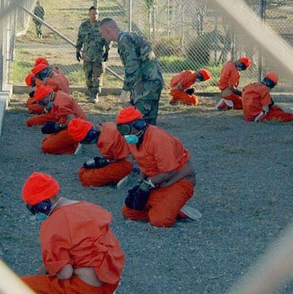 Prisoners at Guantanamo Bay Torture Center