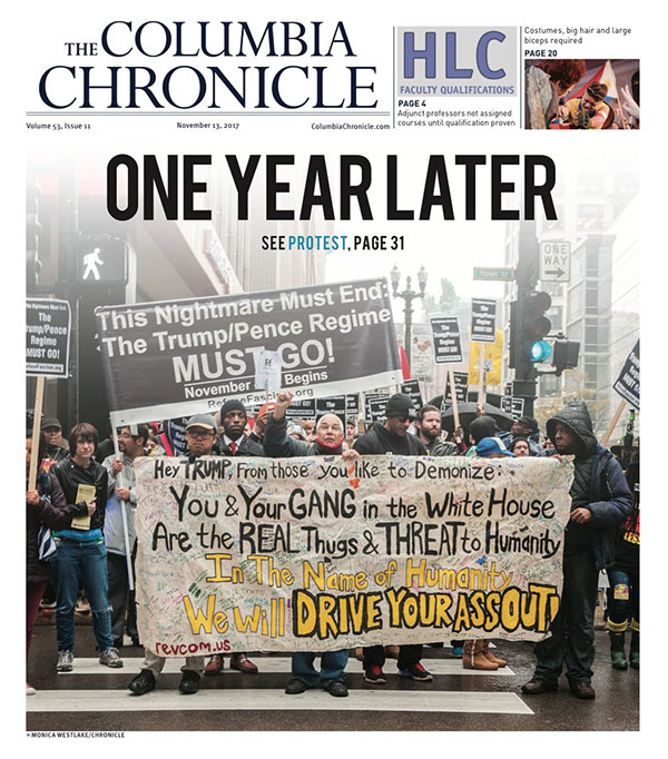 front page of the Columbia Chronicle