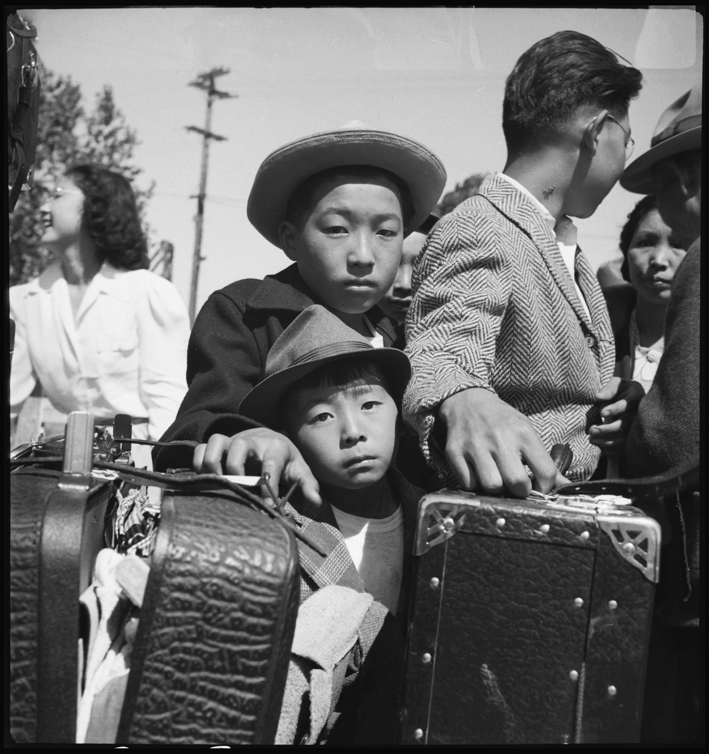Japanese Americans being removed from Turlock, California, May 2, 1942