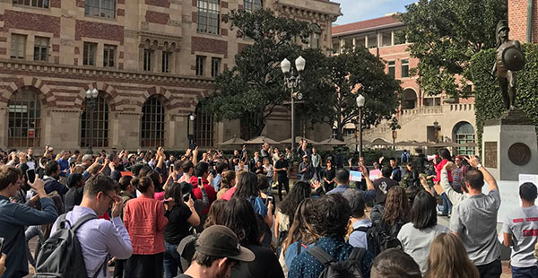 University of Southern California Grad Student Walkout