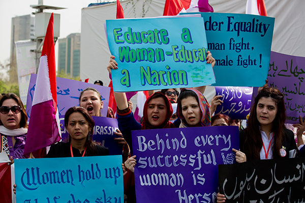 IWD Protest in Pakistan