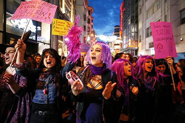 IWD Protest in Turkey