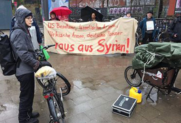 Protest in Hamburg, Germany against US attack on Syria