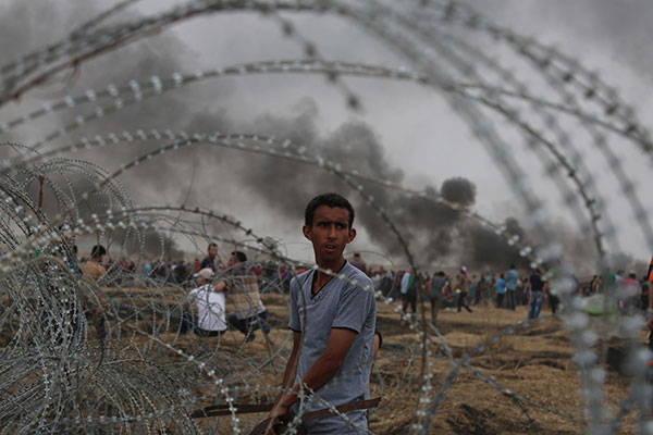 "Tens of thousands living in Gaza have been massing near the barbed wire fences every Friday for five weeks now in a ""Great March of Return"" planned to culminate on May 15."