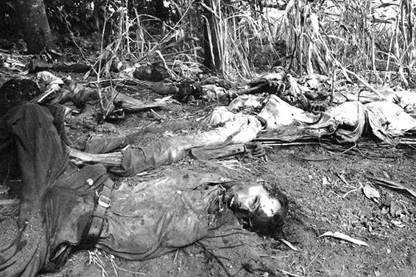 Death squad victims in San Salvador, El Salvador, 1981