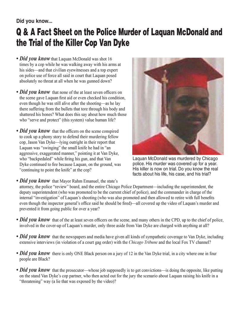 Laquan McDonald Fact Sheet