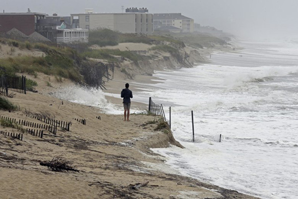 Hurricane Florence's wind and storm surge hit Nags Head, North Carolina, September 14