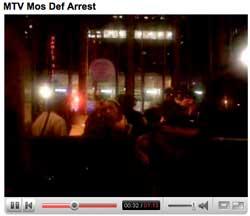 MTV Mos Def Arrest