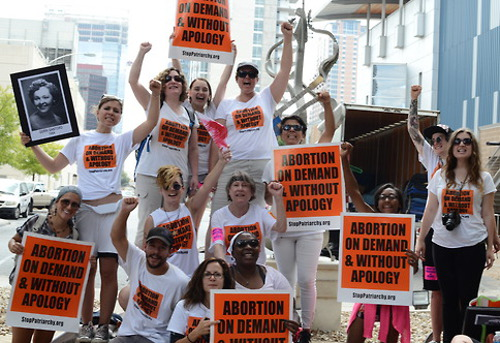 In August 2014, the Abortion Rights Freedom Ride 2014: Ground Zero  Texas, initiated by Stop Patriarchy, traveled through Texas because of  the abortion emergency there that threatened to close all but six  abortion clinics that were left. These courageous fighters faced down  threats, arrests and brutality to boldly put forward their stand of  Abortion on Demand Without Apology!