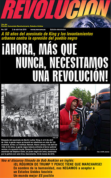 Revolution Newspaper front page