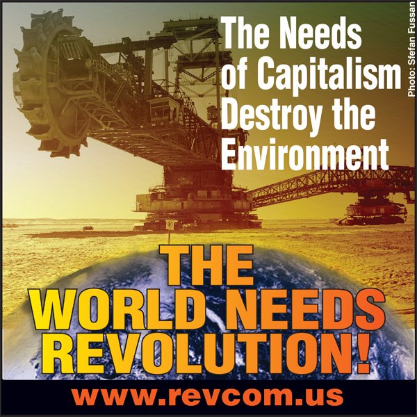 The needs of capitalism destroy the environment--The World Needs Revolution