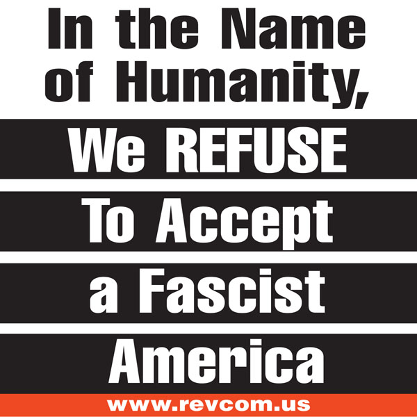 We refuse to accept a fascist America meme