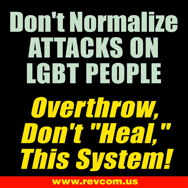 Don't normalize attacks on LGBT people meme