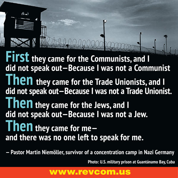 Niemoller Quote: First they came for...
