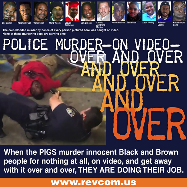 Police murder--on video--over and over