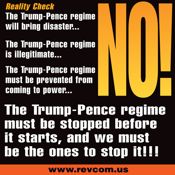 Reality check: The Trump-Pence regime will bring disaster...