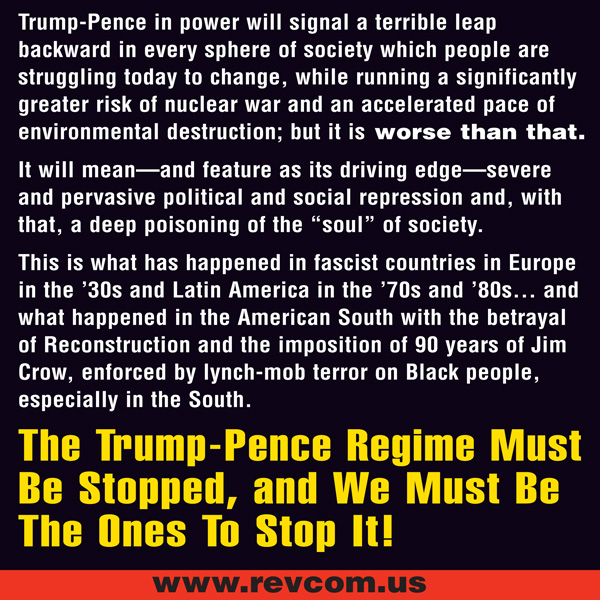 Trump-Pence in power will signal a terrible leap backward in every sphere of society
