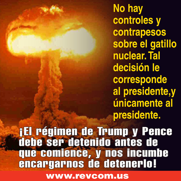 No hay controles y contrapesos sobre el gatillo nuclear.