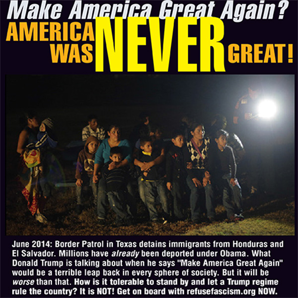America was never great--border