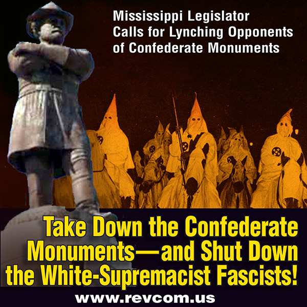 Take down the Confederate monuments--and shut down the white-supremacist fascists!