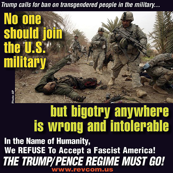 No one should join the U.S. military but bigotry anywhere is wrong and intolerable