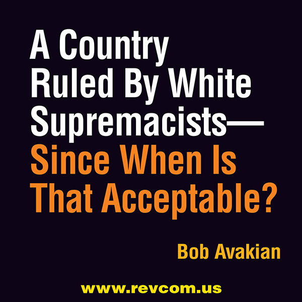 White Supremacy... Since when is that acceptable?