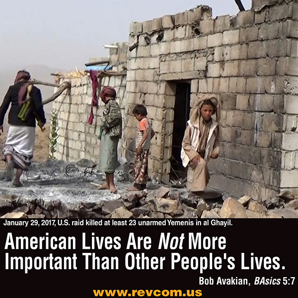 American lives are not more important than other people's lives